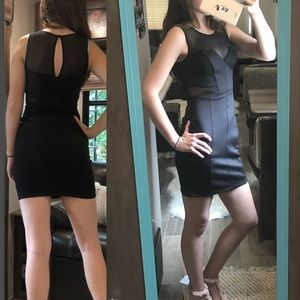 Guess Black Dress with mesh cut outs